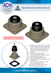 Adjustable Seismic Rubber Mounts